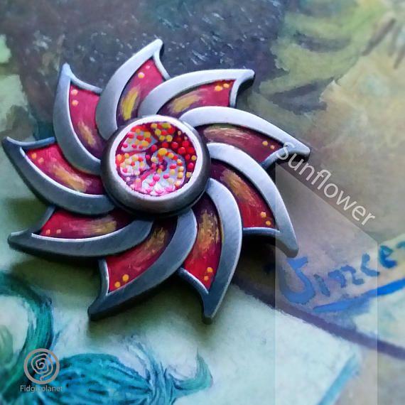 Check out this item in my Etsy shop https://www.etsy.com/hk-en/listing/527395893/edc-metal-fidget-spinner-sunflower