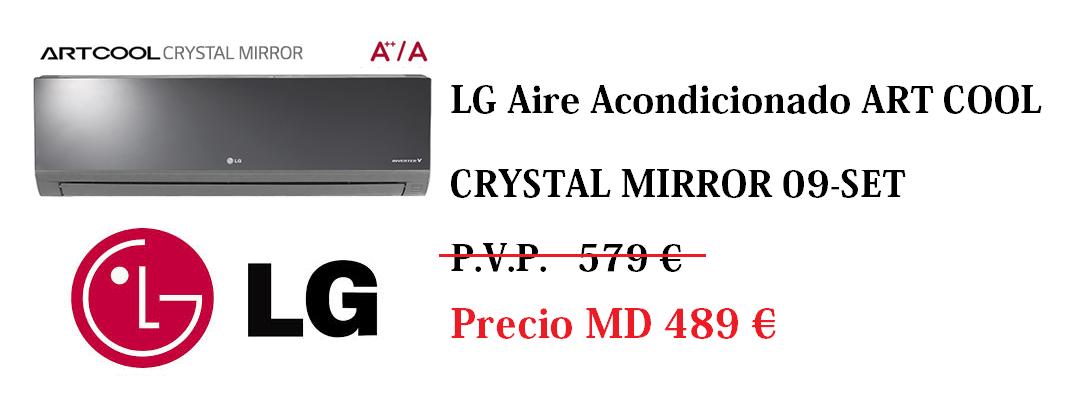 LG Aire Acondicionado ART COOL El único aire con acabado en cristal que purifica tu ambiente http://www.materialdirecto.es/es/aa-equipos/57524-aa-split-lg-cb-art-cool-crystal-mirror-09-set-026403130014.html