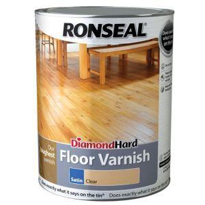 Ronseal Diamond Hard Clear Satin Floor Varnish 5l How To Varnish