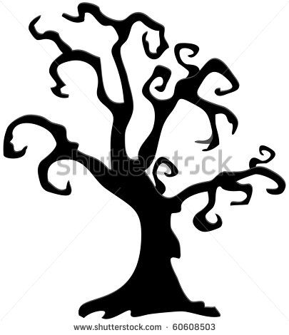 halloween tree silhouettes google search