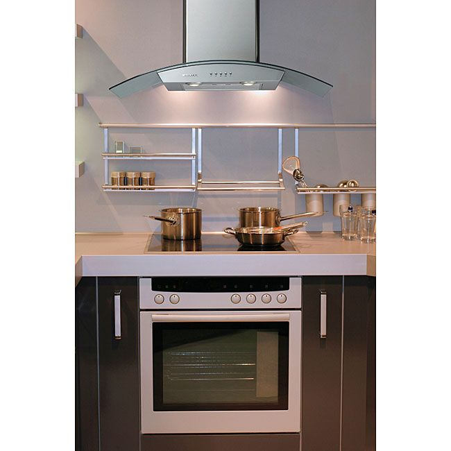 Curved Canopy 30-inch Wall-mounted Range Hood - Overstock™ Shopping - Big  sc 1 st  Pinterest & Curved Canopy 30-inch Wall-mounted Range Hood - Overstock ...
