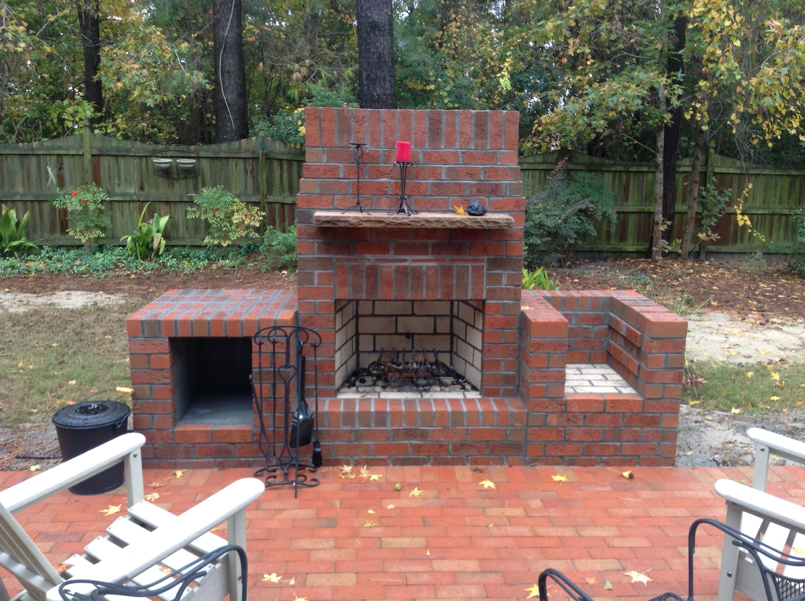 outdoor fireplace with wood box and grill adam sedney of ace