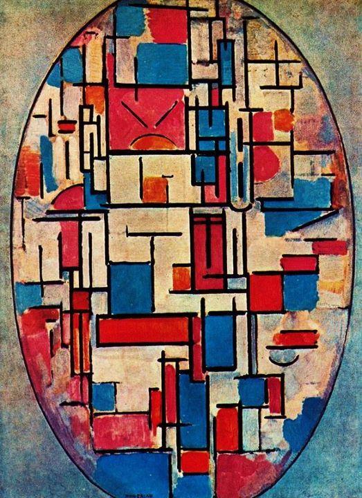Super Piet Mondriaan (1872-1944) was een Nederlandse kunstschilder AG-61