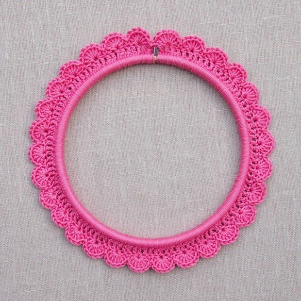 How-To: Crochet around an Embroidery Hoop
