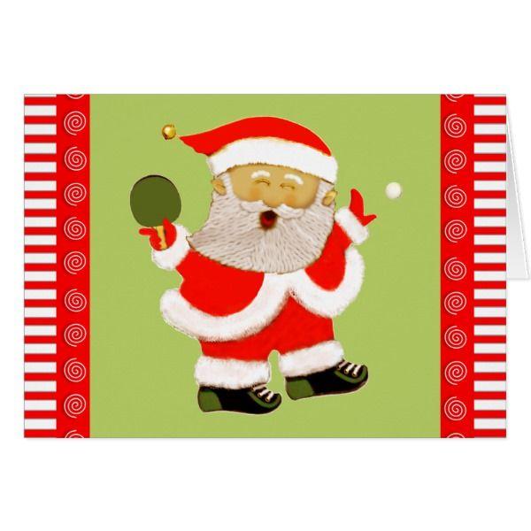 table tennis Christmas Card #cards #christmascard #holiday