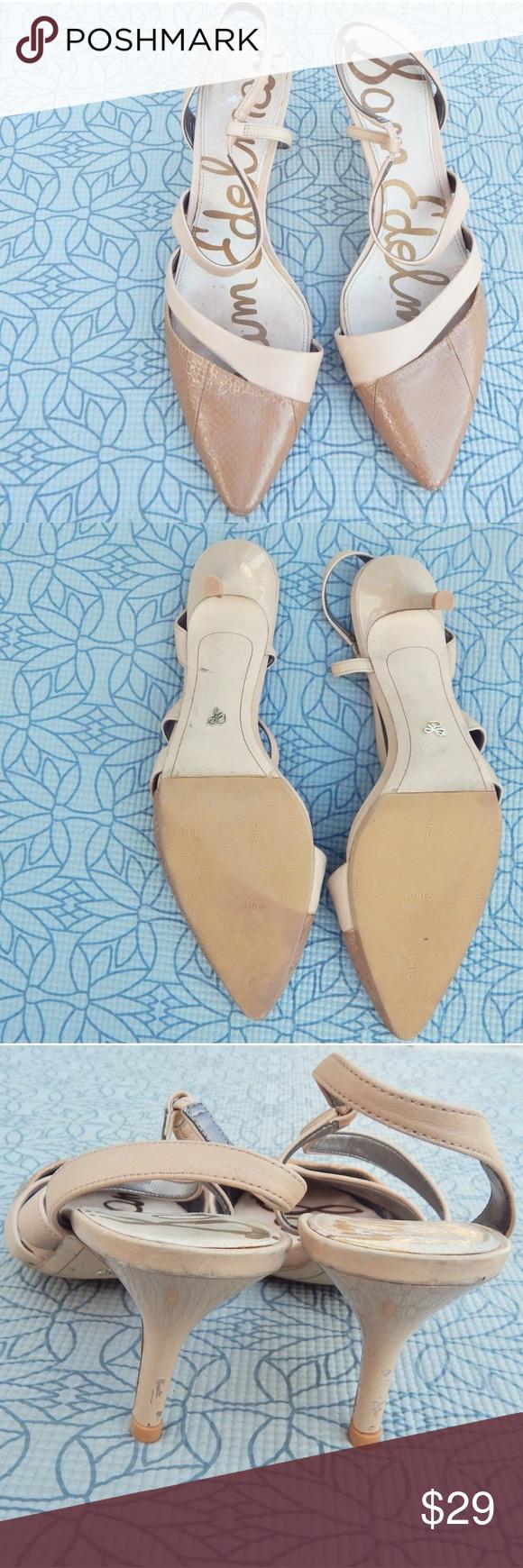 Sam Edelman Nude Pointed Heels Beautiful sam edelman heels. Sam Edelman Shoes Heels