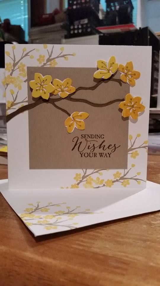 handmade greeting card and matching envelope featuring