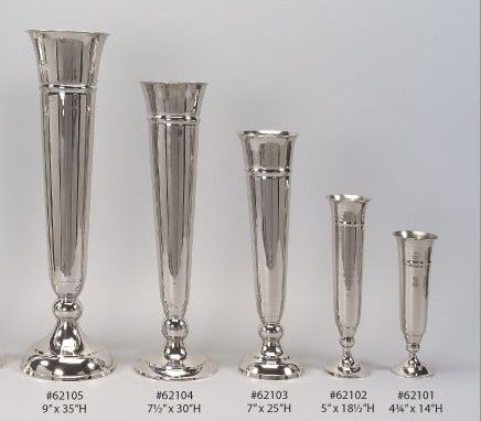 Wholesale Silver Polished Aluminum And Nickel Vases Bath Club
