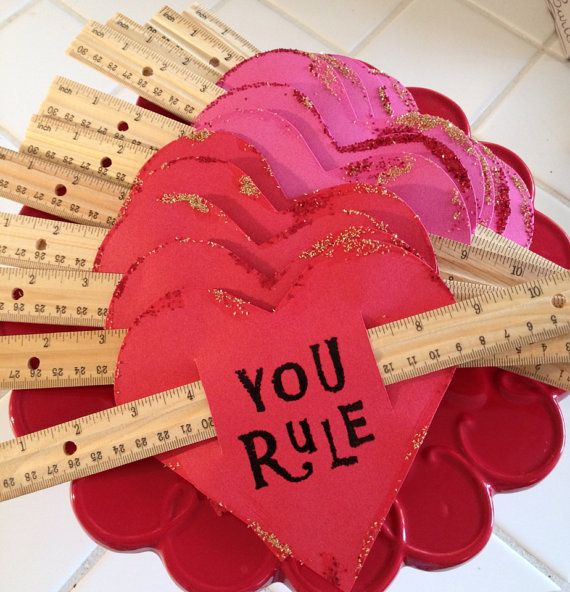 Set Of 12 You Rule Valentines With Rulers By