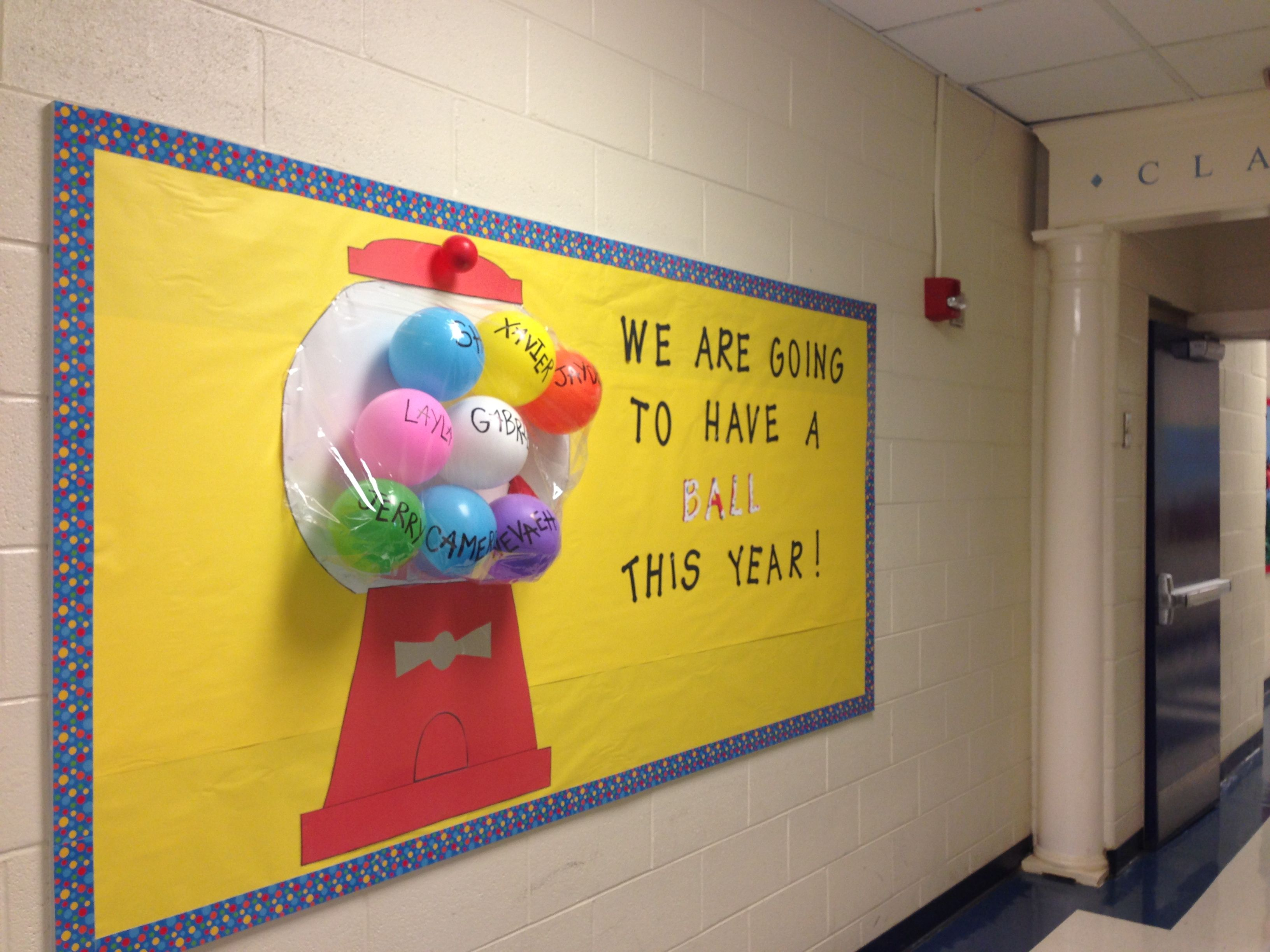 Gum Ball Bulletin Board