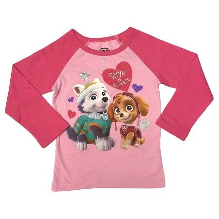 d7b5e429 Paw Patrol Skye and Everest Toddler Girls' Long Sleeve Thermal T-Shirt -  Pink : Target
