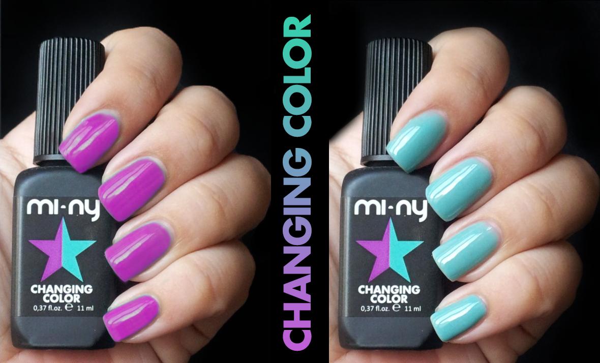 PURPLE - MINT  http://www.minyshop.com/en/changing-color/799-purple-mint.html  #miny #nailpolish #smalto #nails #glamour #fashion #madeinitaly #noanimaltesting #minycosmetics #nailpolish #glamlacquer