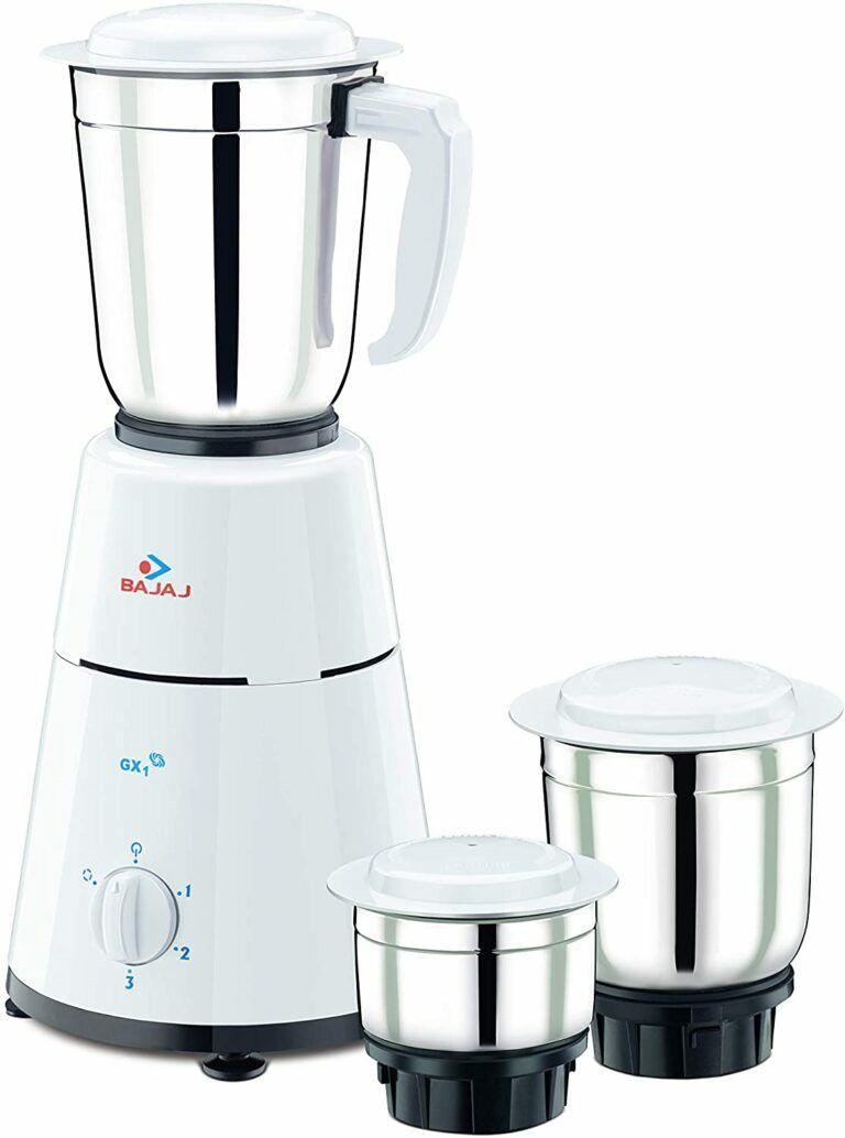 Bajaj gx1 mixer grinder 500w 3 jars best mixer