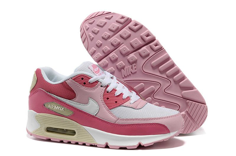 nike air max 90 damen schuhe pink rose wei billig nike. Black Bedroom Furniture Sets. Home Design Ideas