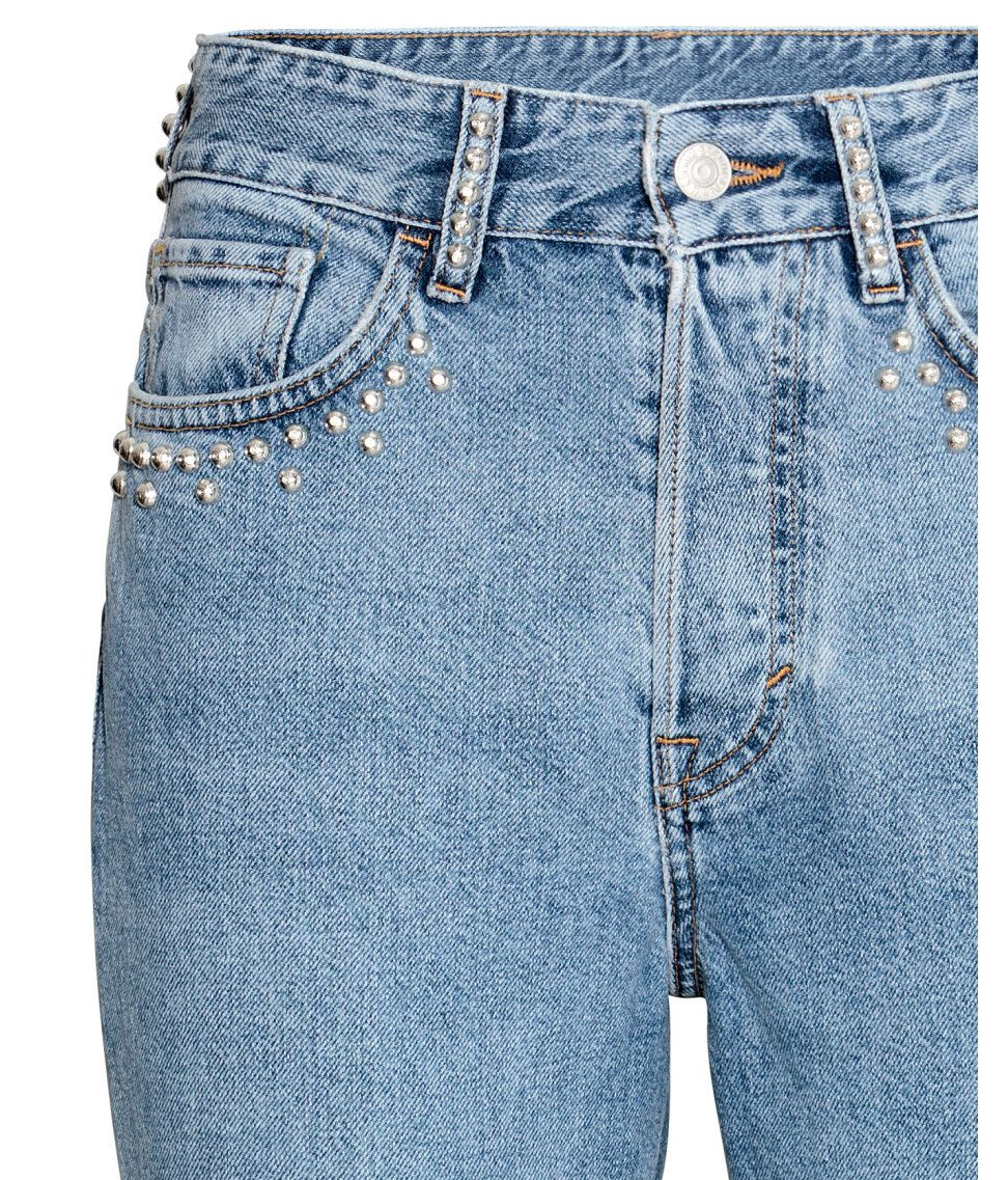 d5aa431d4 Vintage High Jeans | Light denim blue | Women | H&M US | 청 반바지 ...