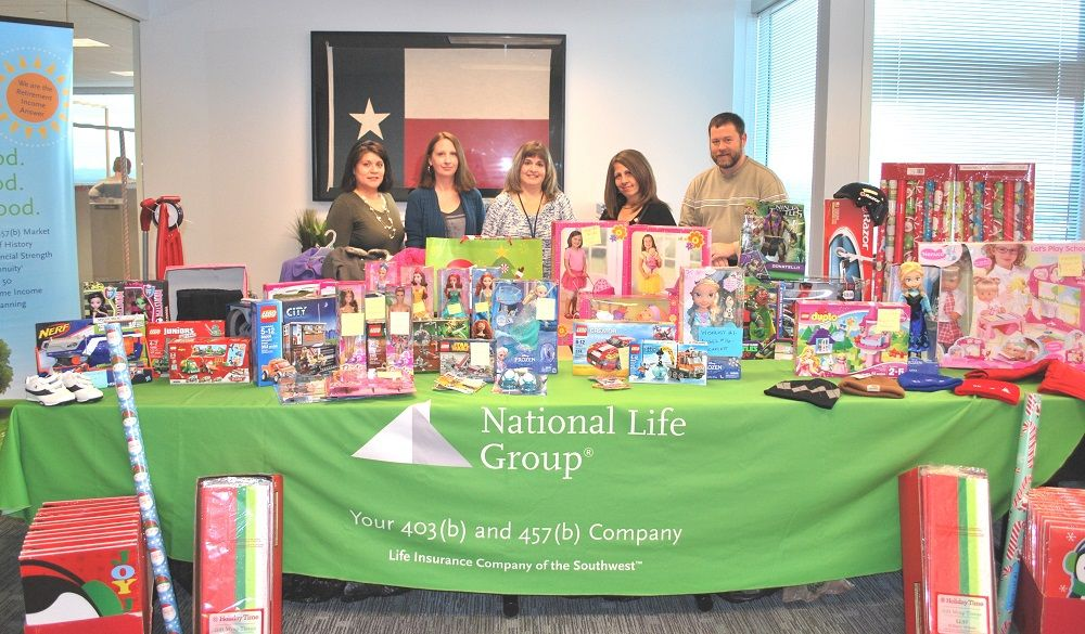 National Life Group not only adopted the CISDR students in need this year at Mark Twain Elementary, but also their siblings, so that their whole family could enjoy this holiday season! Thank you for making the season bright for 43 children in the Dallas Region!