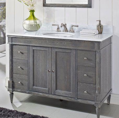 Best 25 grey bathroom furniture ideas on pinterest for Gray rustic bathroom