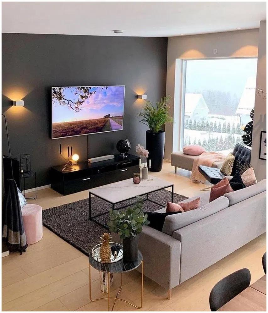 43 Charming Gray Living Room Design Ideas For Your Apartment 30 Gray Living Room Design Living Room Decor Apartment Simple Living Room Decor