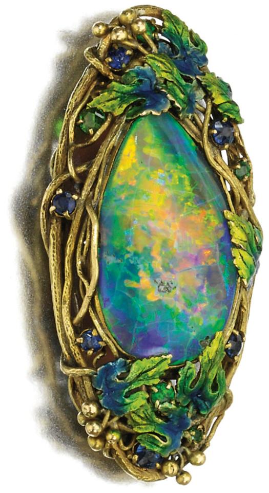 Art Nouveau brooch,by Louis Comfort Tiffany: