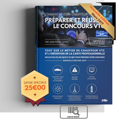 C'est officiel:2 dates en Mai pour passer l'examen VTC programmées les 15 et 30 mai prochain sur région Paris  « PREPARER ET REUSSIR LE CONCOURS VTC » édition 2017 , le manuel de référence pour réviser en complément de votre formation. Inclus plus de 400 QCM et 50 QRC avec les 7 épreuves de l'examen théorique réparties en 6 modules.  La nouvelle version 2017 de « PREPARER ET REUSSIR LE CONCOURS VTC » est un manuel de +300 pages précis et exhaustif qui fait découvrir la profession de VTC…