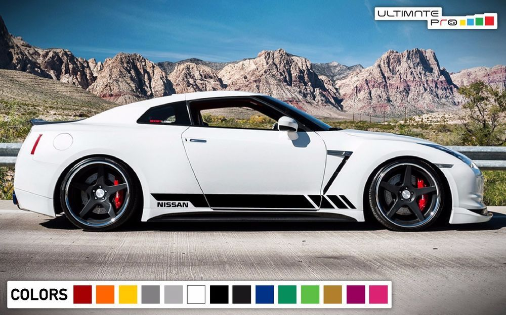 Sticker Decal Vinyl Side Door Stripes For Nissan GTR Nismo Skirt Lip Wing  Sport #ultimateprocy1