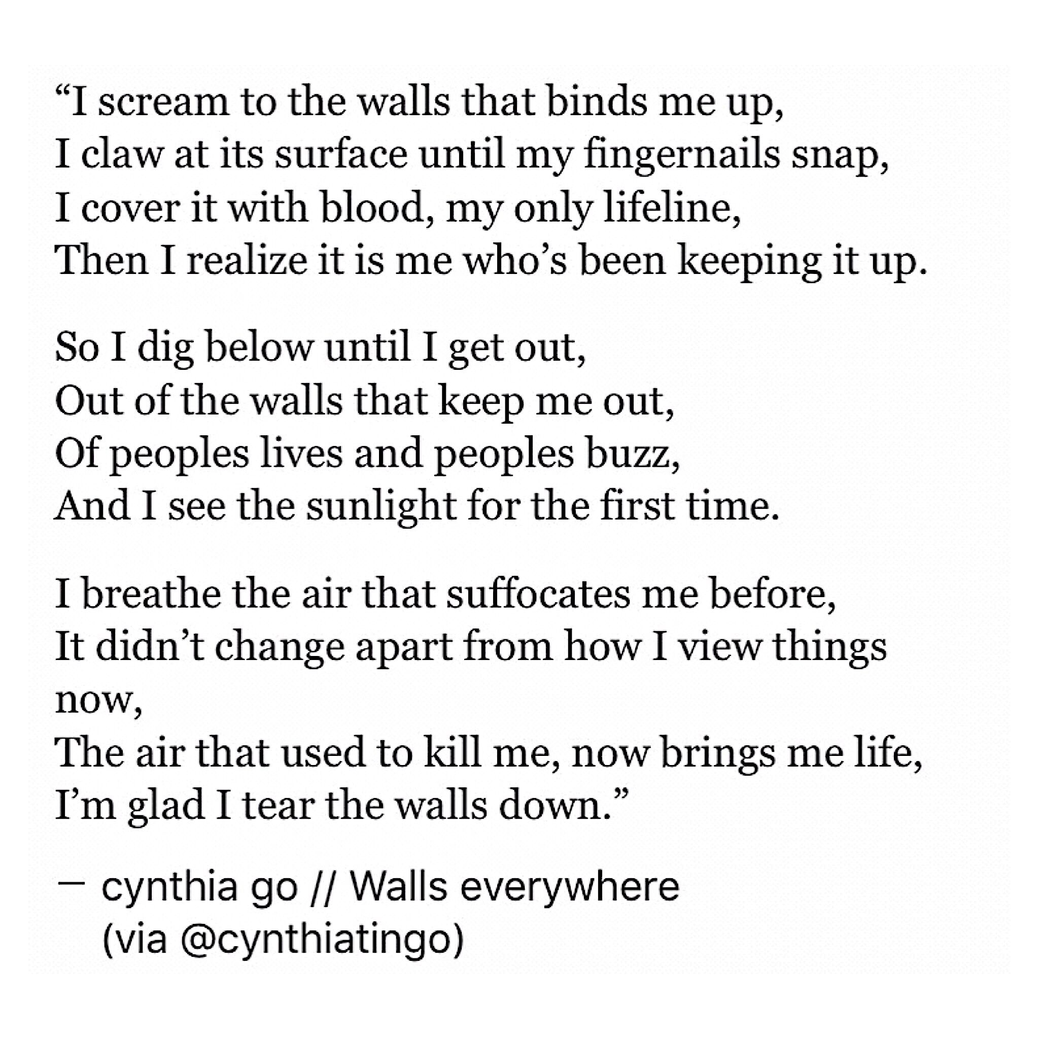 Relatable Quotes Walls Everywhere  Change Quotes Poetry Quotes And Quote Life