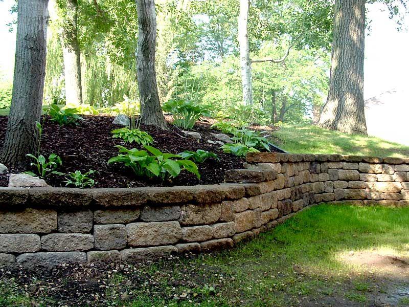 Mosaic Retaining Wall Burnsville Mn Landscaping Retaining Walls Hardscape Backyard Landscaping