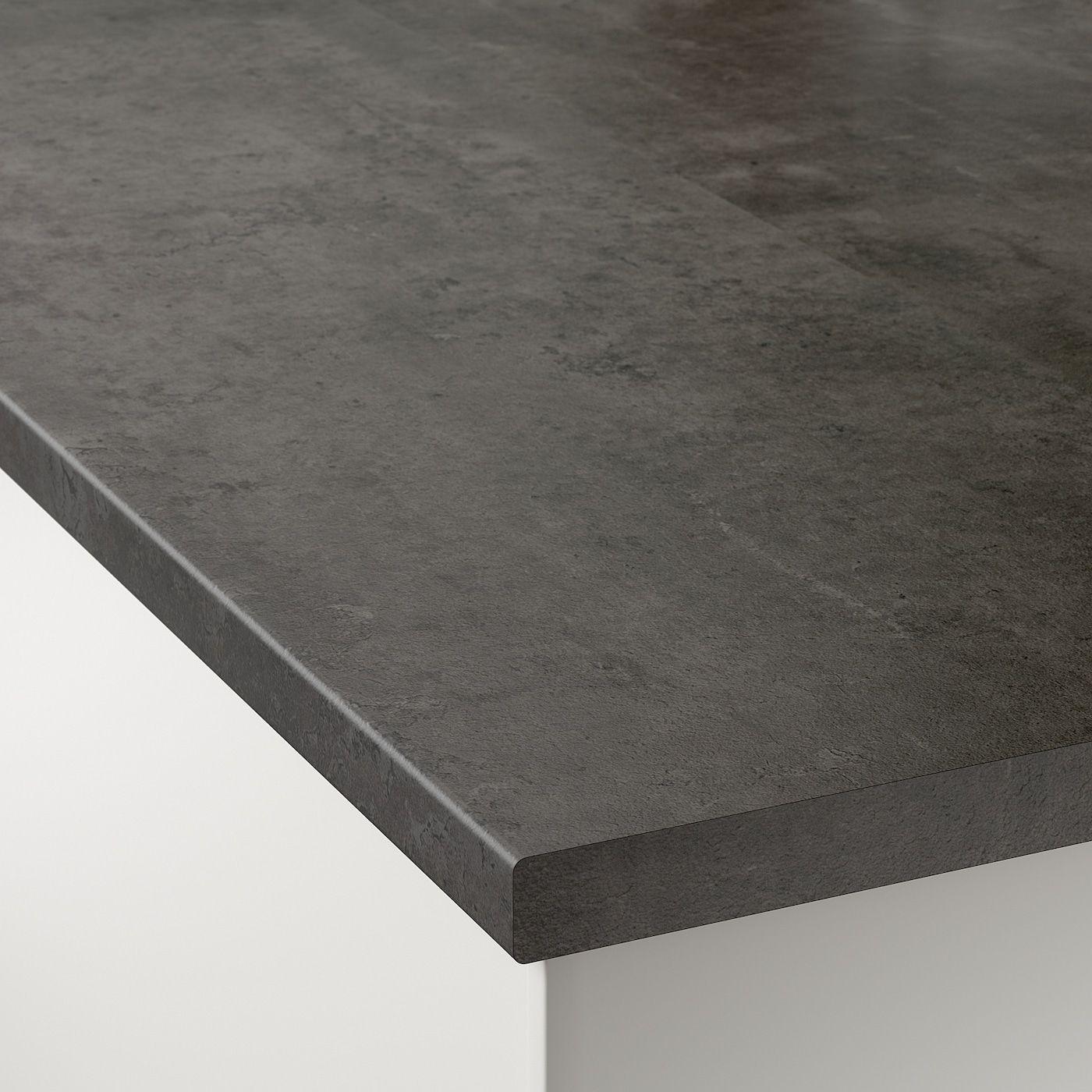 Ekbacken Countertop Concrete Effect Laminate 98x1 1 8 In 2020