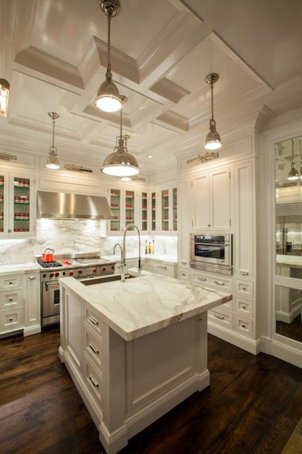 le plan de travail en marbre | kitchens