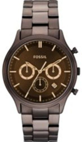 Fossil FS4670 Ansel Stainless Steel Watch - Brown Fossil. $98.00. Pink Steel Bracelet Strap. Chronograph Display