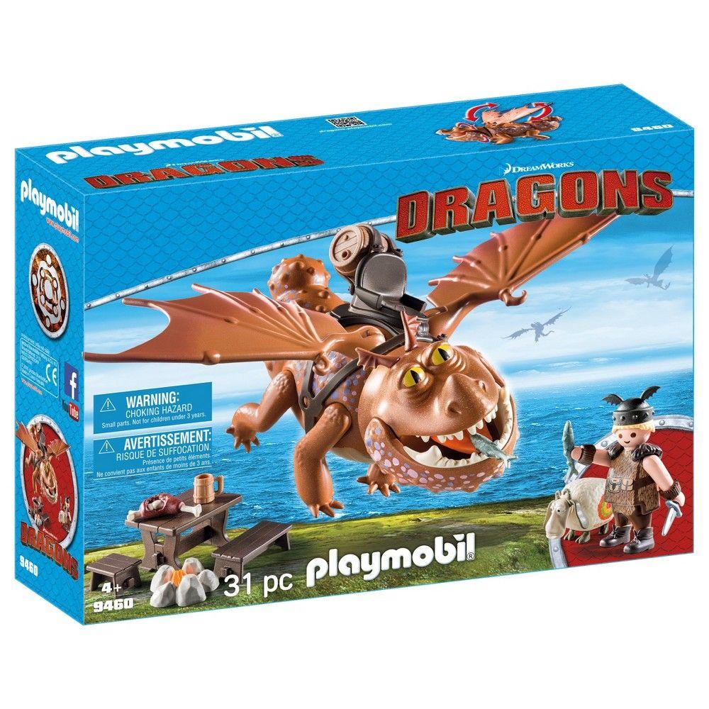 Playmobil Fishlegs And Meatlug Multi Colored Playmobil How Train Your Dragon Dreamworks Dragons