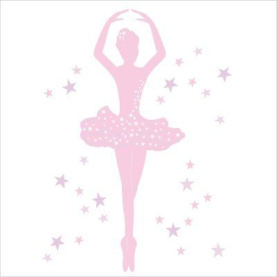 Stickers danseuse rose id es d co chambre fille pinterest danseuse danseuse toile et enfant - Dessin anime danseuse ...
