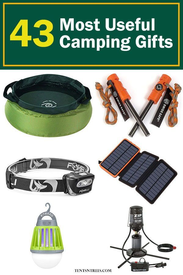 These are the 43 best camping gifts for those who love the outdoors. Find lot…