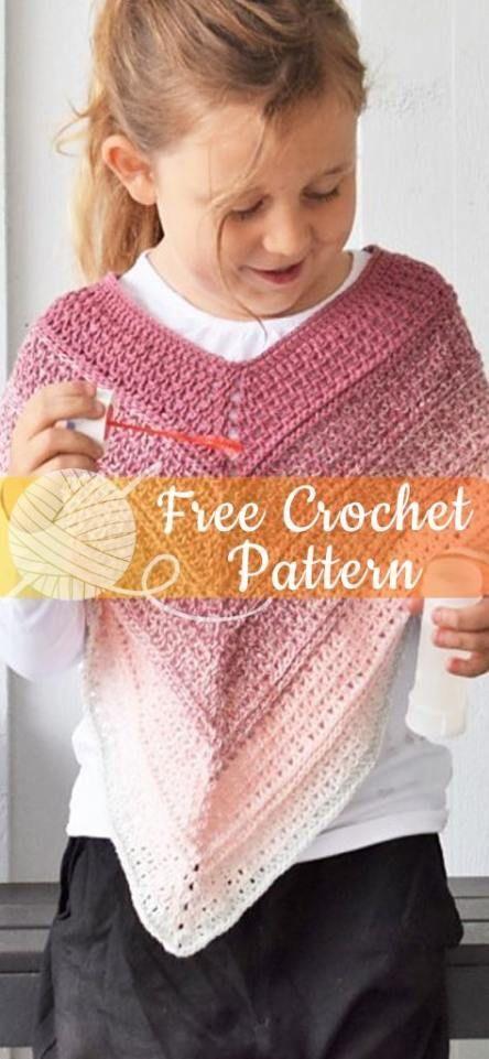 52+ Trendy Crochet Poncho Kids Children Free Pattern #crochetponchokids 52+ Trendy Crochet Poncho Kids Children Free Pattern #crochet #crochetponchokids
