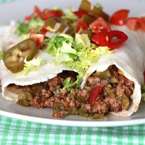 Spicy Beef Burritos Recipe Best Ground Beef Recipes Burritos Recipe Spicy Recipes