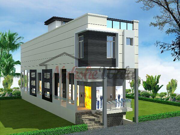 Exceptional 6005commercial Cum Residential House Design NEWS Design Ideas