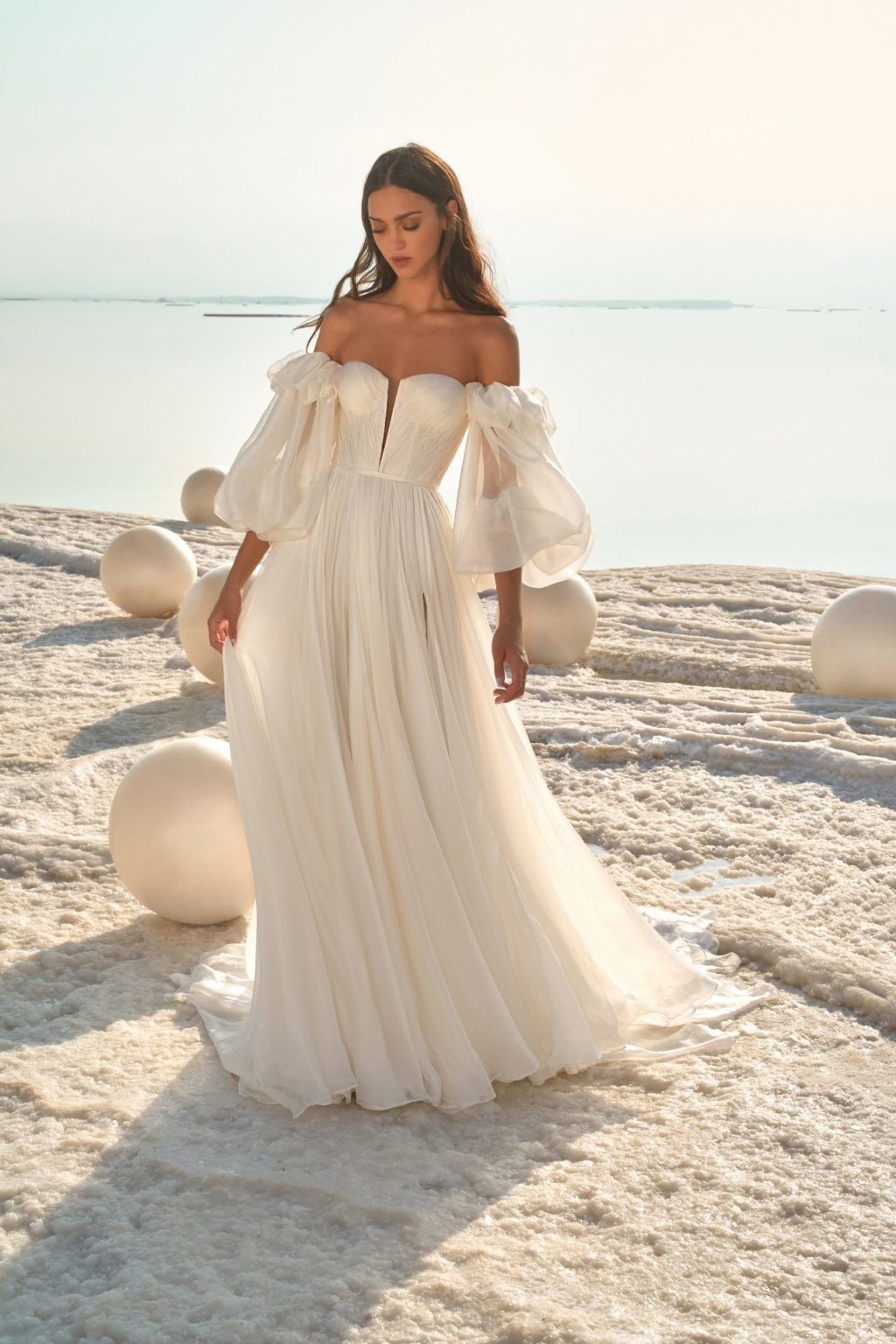 This bridal collection is sexy, striking and so romantic!