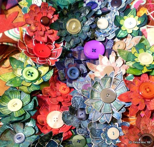 nice flowers with handsewn look