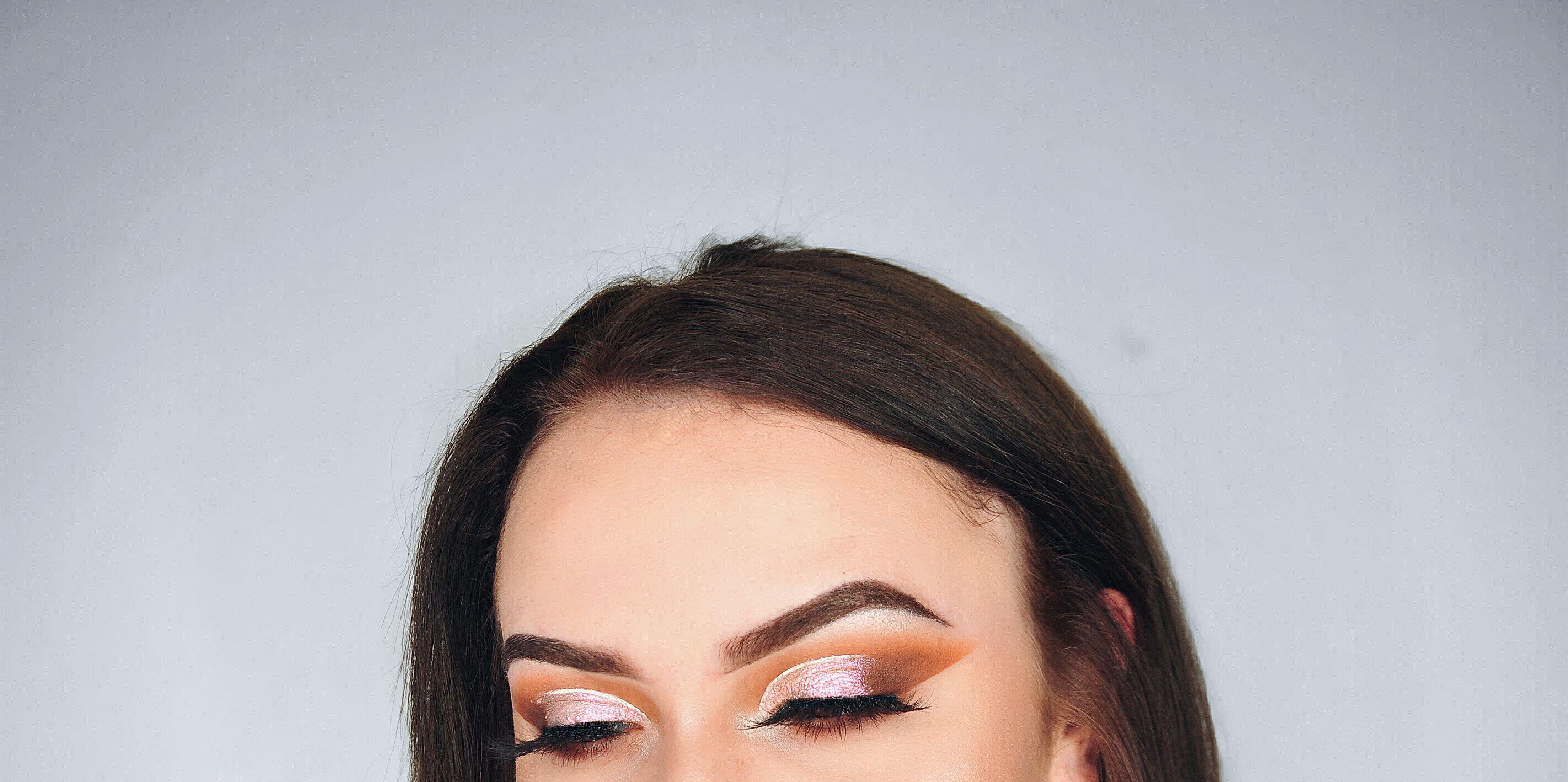 #makeup #mua #makeuplover #pink #orange #eyes #eyebrowsonfleek #falselashes #abhcosmetics