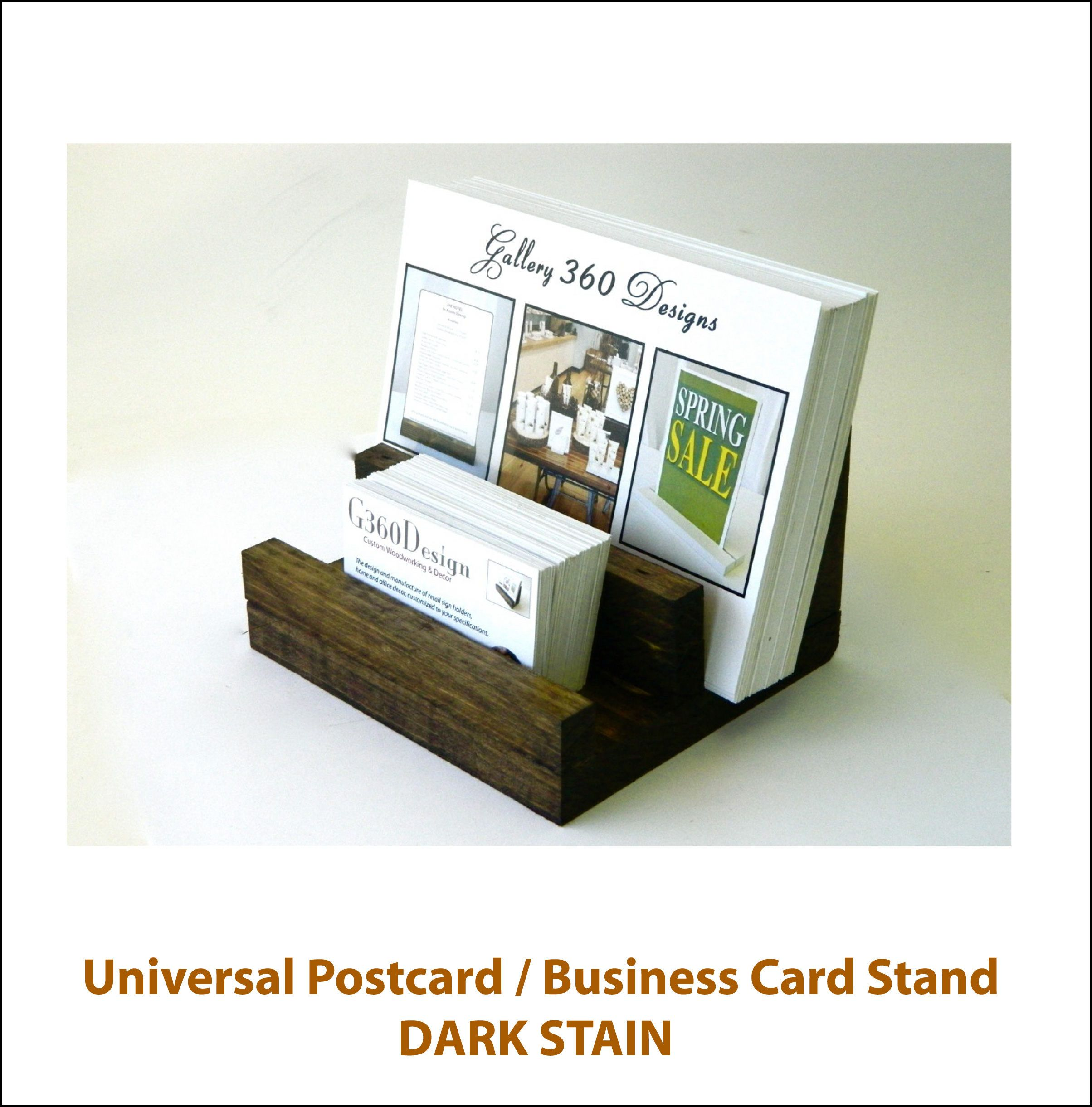 Universal Business Card Sign Stand Wooden Postcard Stand Business Card Holder Multiple Card Holder Set Business Card Stand Postcard Holder Retail Signs