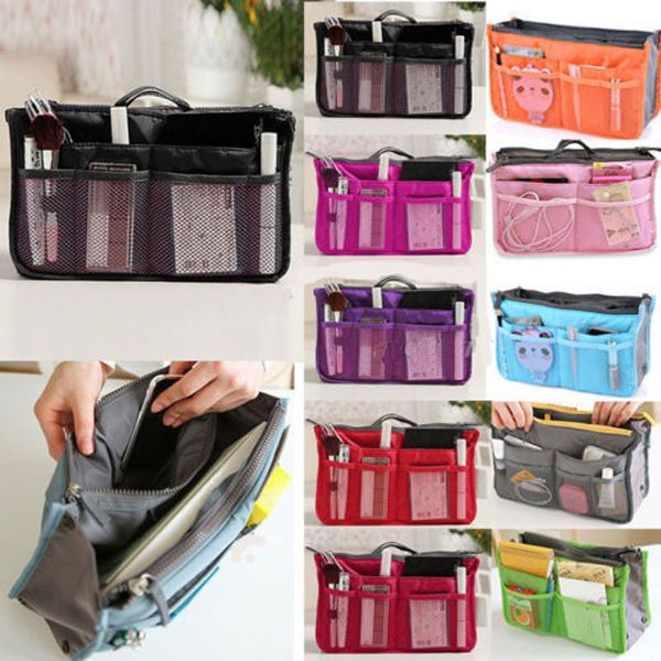 2 54 Lady Women Insert Handbag Organiser Purse Large Liner Organizer Bag Tidy Travel Ebay Fashion Products