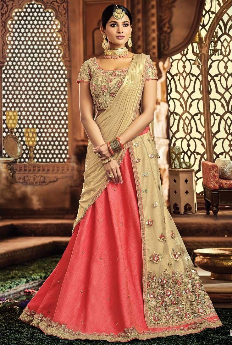9c15b3339f #BridalLehengaPakistani available at Mirraw, shop now and grab discounts.  Lehenga Designs, Lehenga