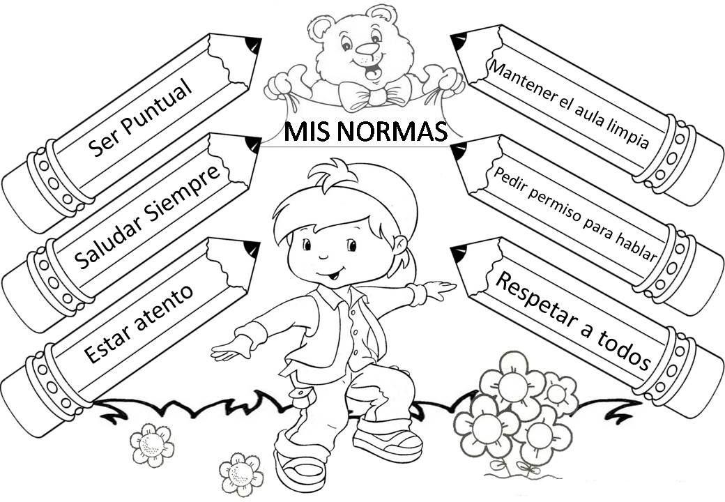 Dibujos Sobre La Escuela Para Colorear E Imprimir: Resultado De Imagen Para Palabras Magicas Para Niños Para