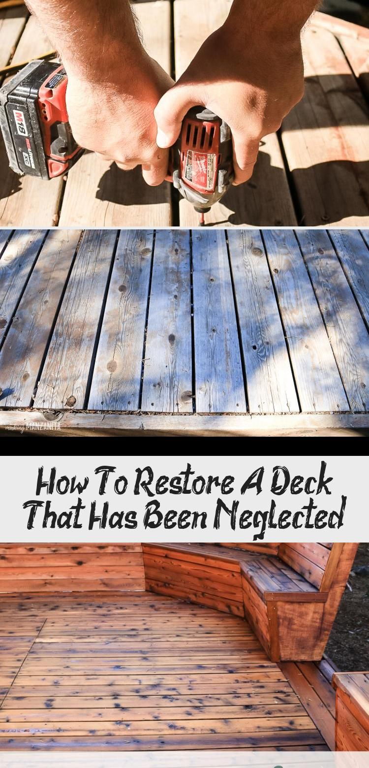 How To Restore A Deck That Has Been Neglected Remodels