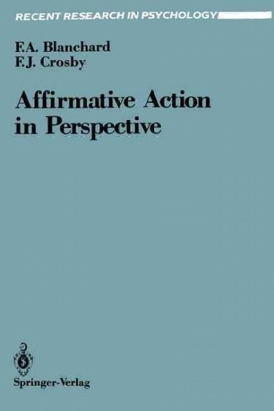 Affirmative Action in Perspective Products Pinterest