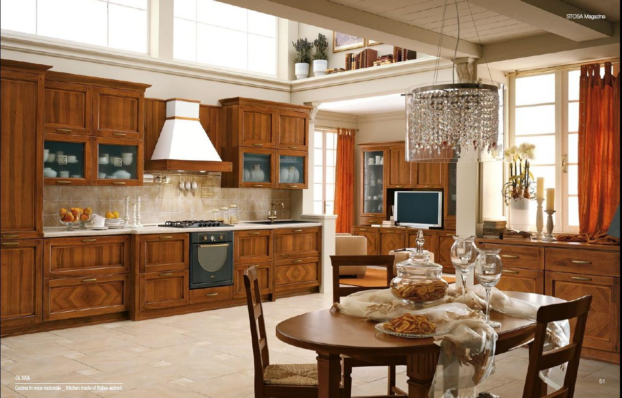 Cool Kitchens Kitchen Old Warm Classical Italian Open Space