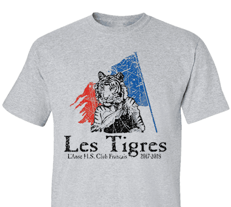 47a24978847a High School Impressions FRC-005-W  Custom French Club Tees - Create your  own design for t-shirts