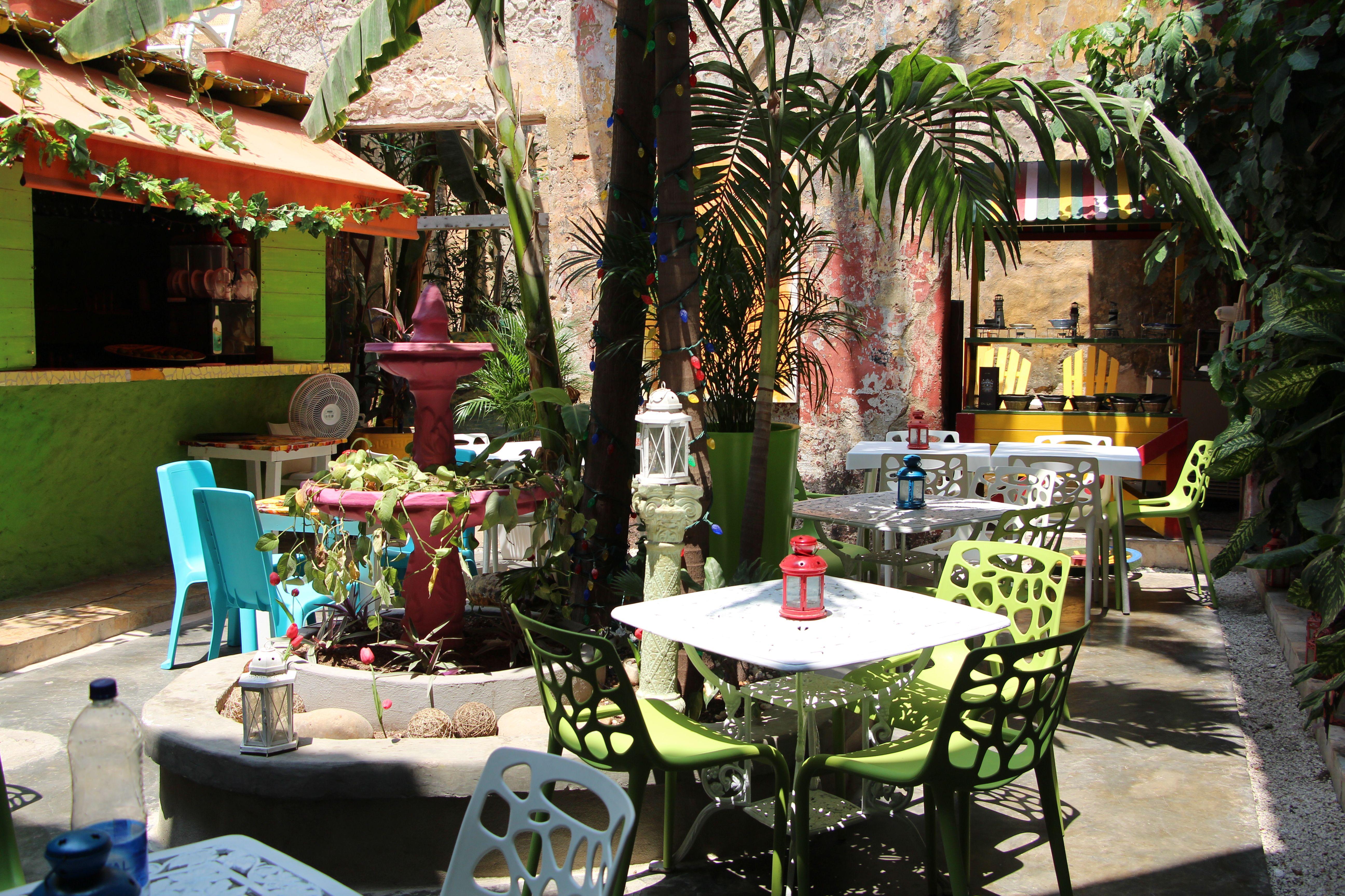 De verscholen binnentuintjes van Cartagena.
