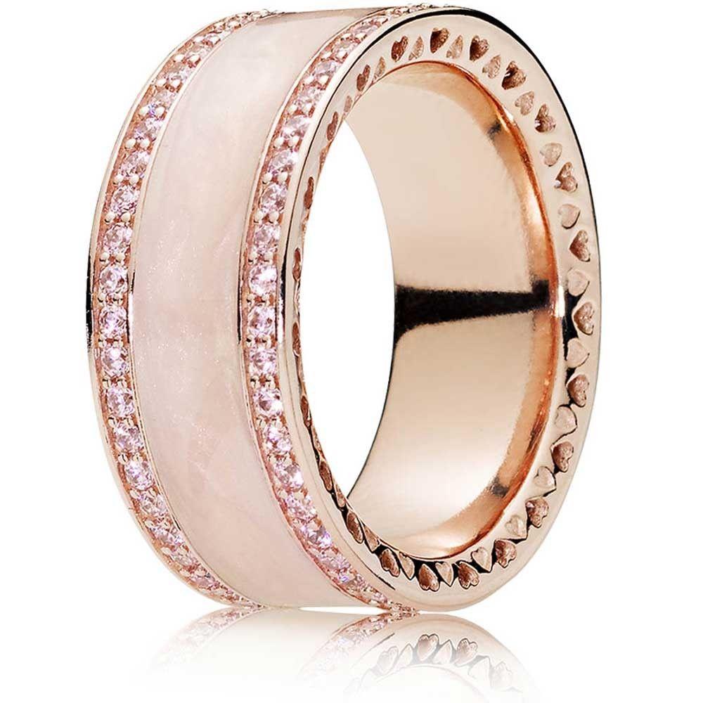 73f8a338c Pandora Rings Rose, Pandora Pink Ring, Pandora Hearts, Pandora Charms Rose  Gold,