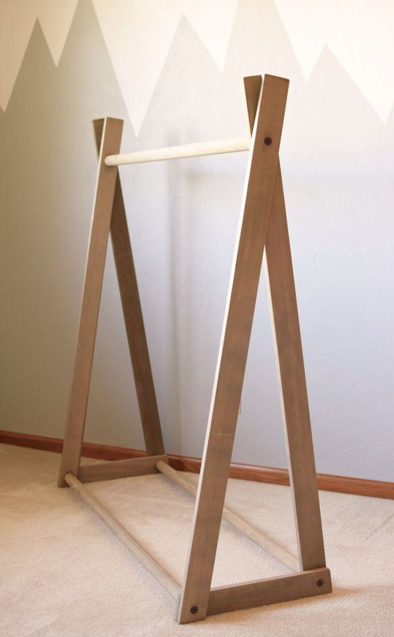 Clothing Rack Children S Clothing Rack Wood By Bourbonmoth On Etsy Wood Clothing Rack Diy Clothes Rack Wood Clothes